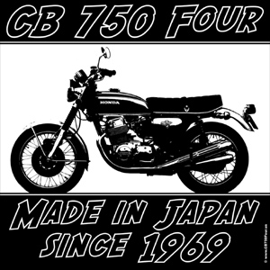 TShirt Print CB 750 Four Made in Japan since 1969
