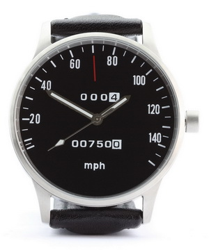 CB 750 speedometer mph watch with black dial