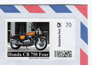 CB750Four.us CB 750 Limited Edition postage stamp set!